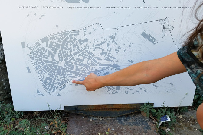 A map of the city. I'm pointing out our apartment.