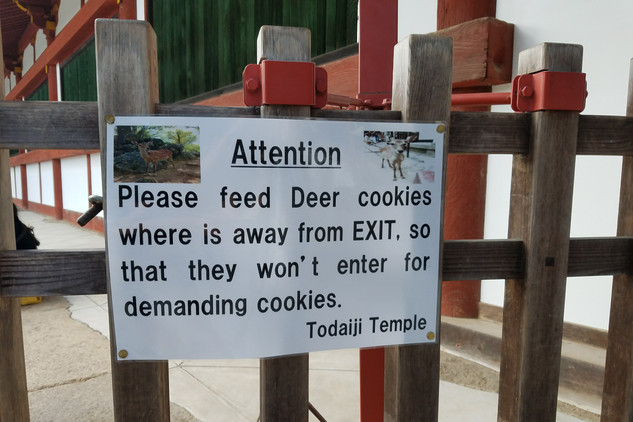 The most adorable sign near the temple exit