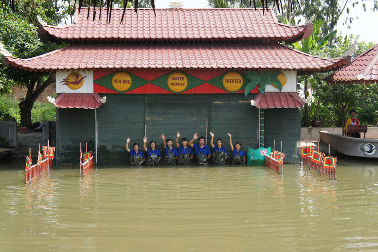 We were also taken to a water puppet show, where we had lunch.