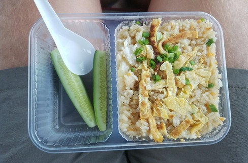 The lunch we were given on the bus
