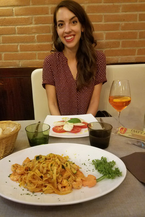 This dinner was not great, but I was excited for my first Aperol spritz in a long time.