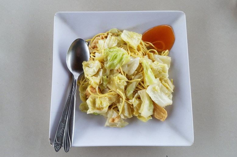 Maden's wife cooked most of our meals. Breakfast was noodles and cabbage.