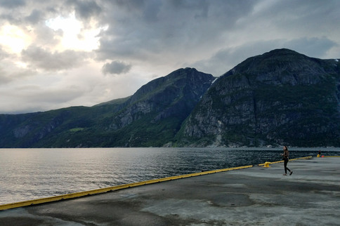 We finally reached a fjord!
