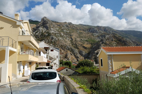 Parking next to the apartment in Kotor