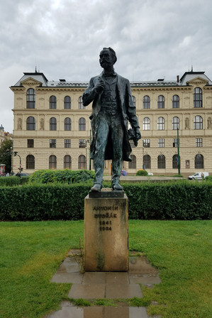 Our walking tour guide played us a clip of the New World Symphony and had us guess what it was. Massive clue: this statue of Antonín Dvořák we were standing next to.