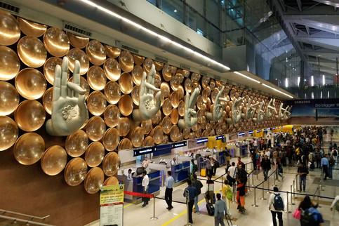 The New Delhi airport