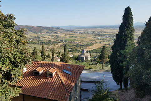 Looking out over the Chiana valley