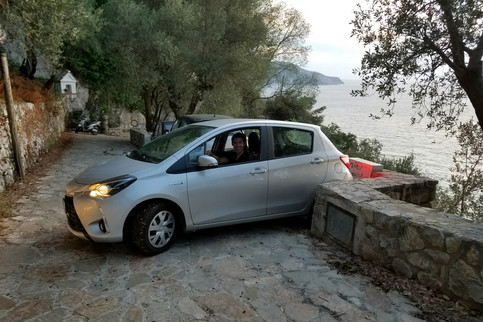 We went searching for the tip of the Sorrentine peninsula and got ourselves into a bit of a tight spot. Brandon is a hero for even attempting to drive in southern Italy.