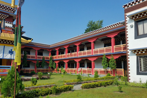 I think it was this monastery where we saw a group of teenage monks praying. When they got up to leave, I saw that one girl was wearing a Nirvana band shirt under her robe!