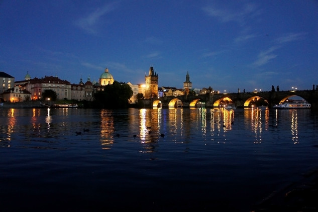 The Charles Bridge at night