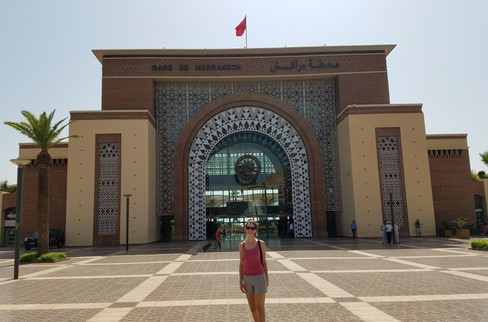 The train station, where we had to go to buy our tickets to Tangier in advance.