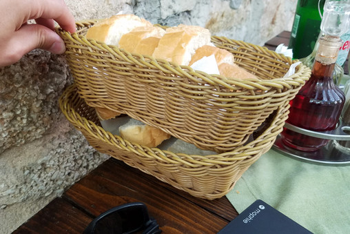 We were given two whole baskets of bread.