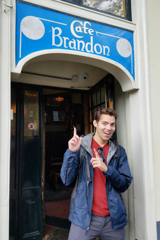 Brandon found his place. We didn't go in.