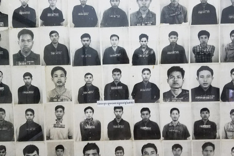 We visited the Tuol Sleng Genocide Museum, a former high school turned prison under Khmer Rouge rule.