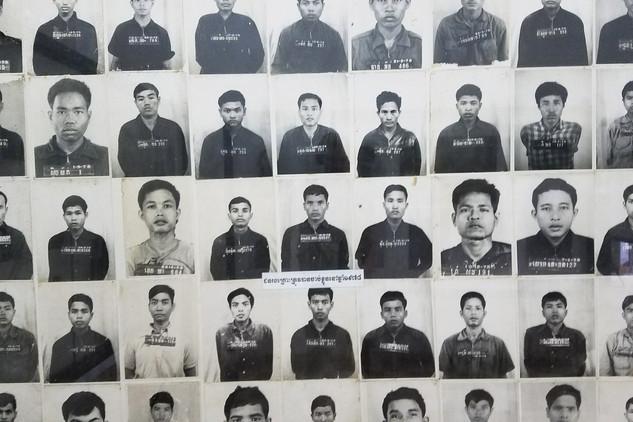 We visited the Tuol Sleng Genocide Museum, a former high school turned prison under Khmer Rouge rule.
