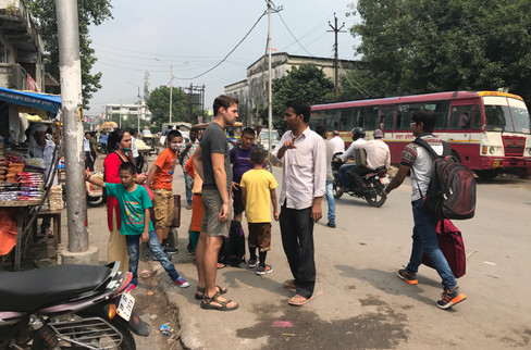 Brandon wasn't feeling great, so we decided against the bus. He haggled with some folks and eventually arranged a taxi for around $30.