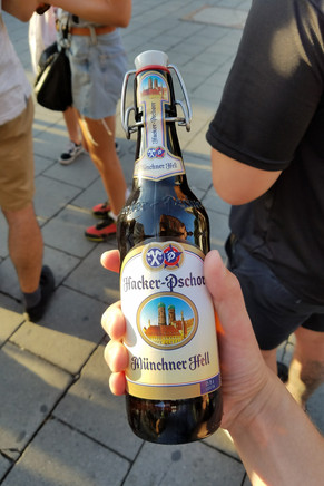 Our first beer on the beer tour