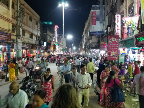 Walking the streets of Varanasi was a learning experience. You're either hopping over sellers' wares spread out in front of them, running into people or cows coming from either direction, or dodging motorbikes. There is never room for another option.