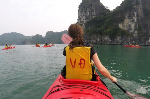 Kayaking around the bay