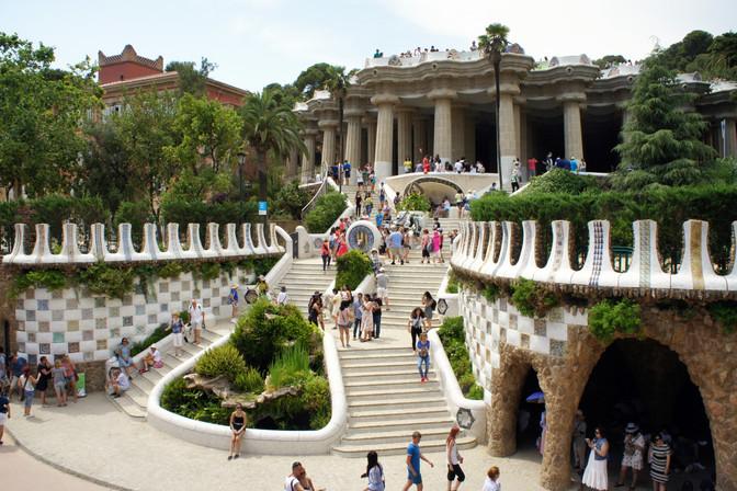 Park Guell, designed by Gaudí