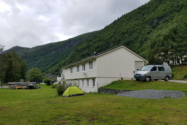 Our Airbnb at the base of Trolltunga (really halfway up the mountain already, but that's where the path starts). Our host converted her basement into a hostel for hikers.