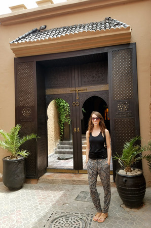 After our local hammam experience in Fes, we decided to try out a touristy one. It was more like a spa, and they gave us cookies!