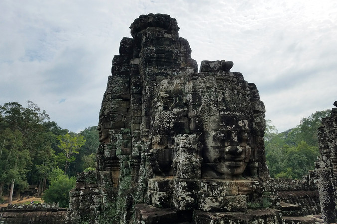 Bayon, the 12th or 13th century temple with faces carved all over it