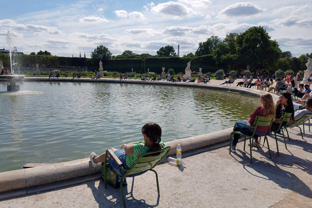 A fountain in the Tuileries