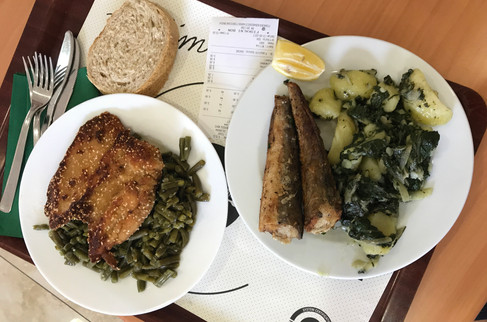 Our surprisingly good lunch at the cafeteria