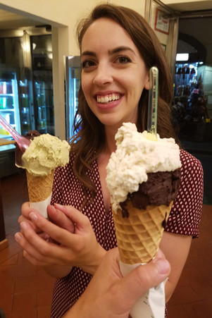 Our walking tour guide pointed out his favorite gelato place, which we both immediately marked on Google Maps. The pistacchio is good stuff.