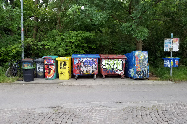 Christiania has a well-developed recycling system