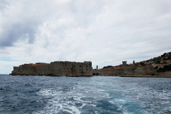 View of Dubrovnik from the boat