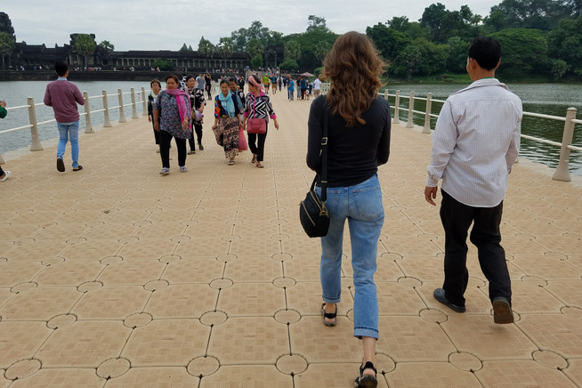 Walking with the tour guide Maden set us up with