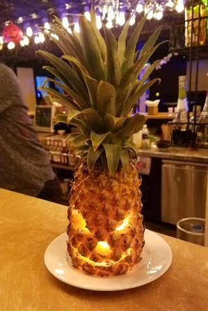 Tropical Halloween decorations