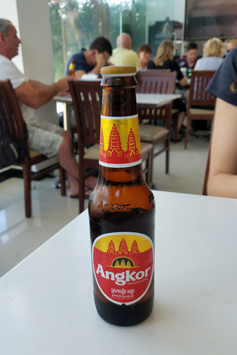The bus stopped for lunch at a big cafeteria/mall place just inside the Cambodian border.