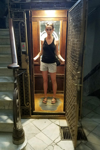 Elevator at the Airbnb