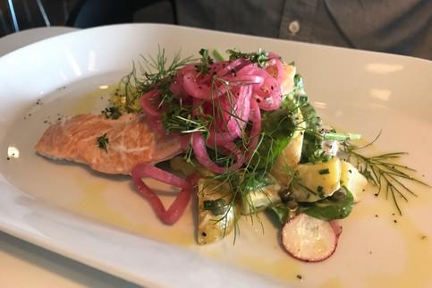 Brandon's dinner: salmon