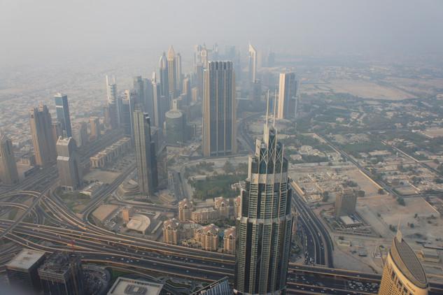 Dubai is unbelievably hazy and dry.