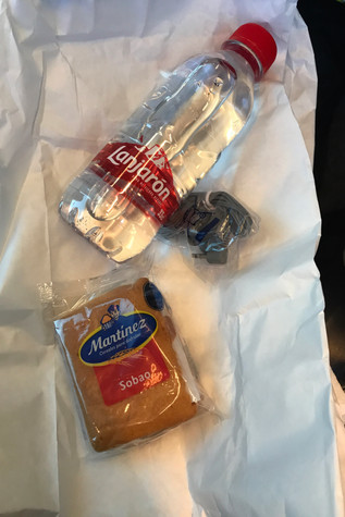 The snack we were given on the bus ride to Seville
