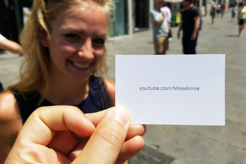 Annie filmed some of our walking tour for her YouTube channel