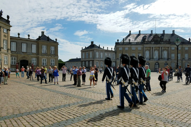 The changing of the guard at the royal palace
