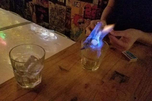 Brandon ordered an absinthe