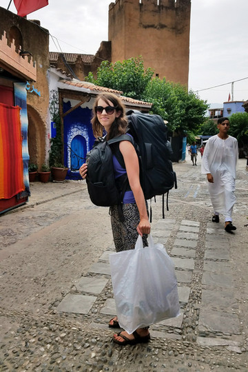 Our backpacks definitely came in handy in Morocco; cars don't get very far in the cities.