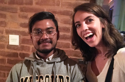 I accosted this poor Mizzou student for a selfie. He was not so surprised at the Missouri connection as I was.