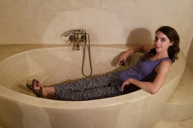 Brandon wanted me to show off the tub