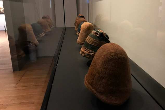 17th century Dutch whaling hats on display at the Rijksmuseum