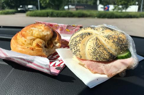 Swedish gas station breakfast