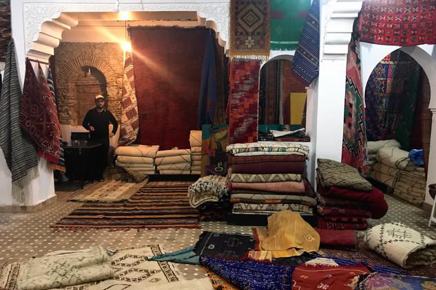 Karim in his rug shop