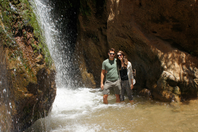A driver picked us up to take us on Coca's recommended itinerary. First stop: this waterfall.