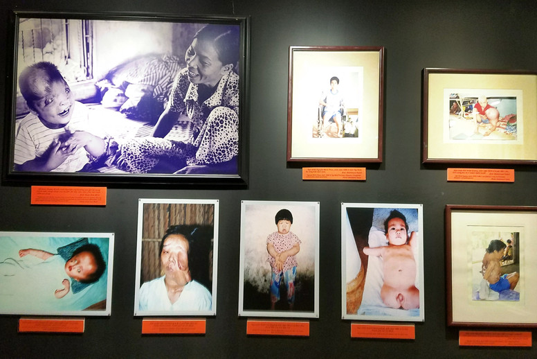 One gallery was dedicated to victims of Agent Orange, which can cause cancer, neurological problems, and a host of other awful things. We learned it's also passed on genetically, so children of people exposed to Agent Orange often have birth defects.